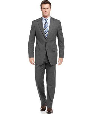 Ralph Lauren Grey Sharkskin Suit