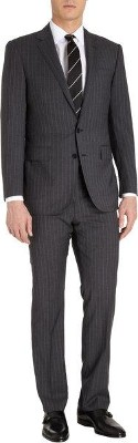 Ralph Lauren Navy Plaid Suit