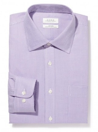 Checkered Light Purple Collared Shirt